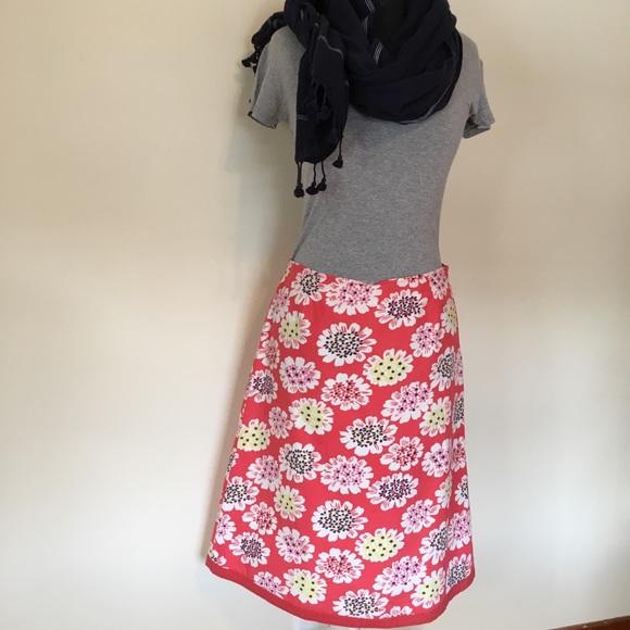 Boden Dresses & Skirts - Boden floral Print A line skirt coral